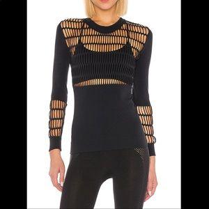 Adidas Stella McCartney Warp Knit Top Long Sleeve